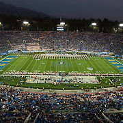 UCLA Marching Band - Action Photos at Football vs University Southern California, The Rose Bowl, Pasadena, CA<br /> November 22nd, 2014<br /> Copyright Don Liebig/ASUCLA<br /> 141122_BND_0019.NEF
