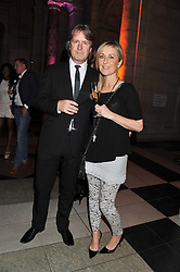 FIONA PHILLIPS and her husband MARTIN FRIZELL at the 50th birthday party for Jonathan Shalit held at the V&A Museum, London on 17th April 2012.