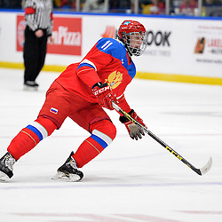 WHITBY, - Dec 14, 2015 -  Game #4 - Russia vs. Canada East at the 2015 World Junior A Challenge at the Iroquois Park Recreation Complex, ON.  Mikhail Maltsev #11 of Team Russia during the first period.<br /> (Photo: Shawn Muir / OJHL Images)