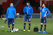 Bradford players warm up ahead of the EFL Sky Bet League 1 match between Doncaster Rovers and Bradford City at the Keepmoat Stadium, Doncaster, England on 19 March 2018. Picture by Aaron  Lupton.