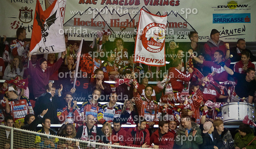 21.11.2010, Stadthalle, Klagenfurt, AUT, EBEL, EC KAC vs EC RED BULL SALZBURG, im Bild KAC FANS , EXPA Pictures © 2010, PhotoCredit: EXPA/ G. Steinthaler
