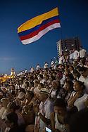 Cartagena de Indias, Bol&iacute;var, Colombia - 26.09.2016        <br /> <br /> Signing ceremony of the peace treaty between the FARC and the Colombian government in Cartagena. On 2nd October follows a peace referendum takes place about the end of the 52 years ongoing civil war between the marxist FARC-EP guerrilla and the government.<br /> <br /> Zeremonie der Friedensvertragsunterzeichnung zwischen der FARC und der kolumbianische Regierung in Cartagena. Am 02. Oktober folgt eine Volksabstimmung &uuml;ber das Ende des seit 52 Jahren dauernden B&uuml;rgerkrieges zwischen der marxistischen FARC-EP Guerilla und der Regierung statt.<br /> <br /> Photo: Bjoern Kietzmann