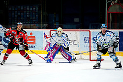 01.03.2015, Ice Rink, Znojmo, CZE, EBEL, HC Orli Znojmo vs EHC Black Wings Linz, 53. Runde, im Bild v.l. Patrik Novak (HC Orli Znojmo) Thomas Dechel (Linz ) Curtis Murphy (Linz ) // during the Erste Bank Icehockey League 53th round match between HC Orli Znojmo and EHC Black Wings Linz at the Ice Rink in Znojmo, Czech Republic on 2015/03/01. EXPA Pictures © 2015, PhotoCredit: EXPA/ Rostislav Pfeffer