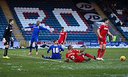Rochdale's Matt Done reacts after winning a penalty  - Photo mandatory by-line: Matt McNulty/JMP - Mobile: 07966 386802 - 17.01.2015 - SPORT - Football - Rochdale - Spotland Stadium - Rochdale v Crawley Town - Sky Bet League One