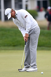 June 23, 2018 - Cromwell, Connecticut, United States - Matt Jones putts the 9th green during the third round of the Travelers Championship at TPC River Highlands. (Credit Image: © Debby Wong via ZUMA Wire)