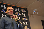 Joe Flacco addressed the media following the signing of his new contract making him the highest paid player in the NFL with $120.6 million over the next six years.Joe Flacco addressed the media following the signing of his new contract making him the highest paid player in the NFL with $120.6 million over the next six years.