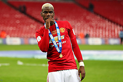 Paul Pogba of Manchester United celebrates with his medal - Mandatory by-line: Matt McNulty/JMP - 26/02/2017 - FOOTBALL - Wembley Stadium - London, England - Manchester United v Southampton - EFL Cup Final