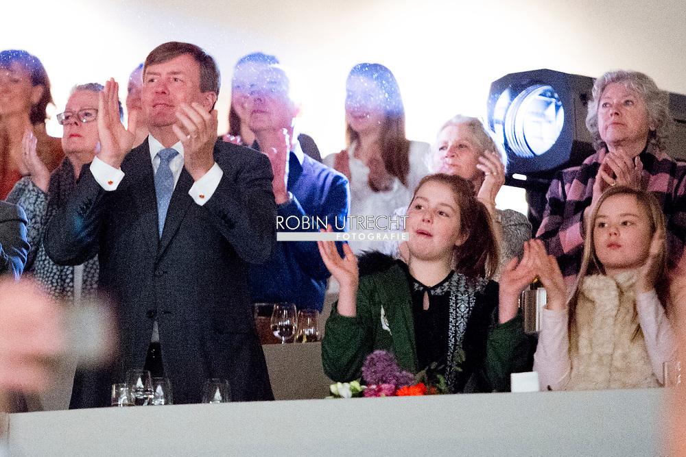 12-3-2017 - DEN BOSCH - King Willem-Alexander en and princess Amalia Alexia and Ariane at Indoor Brabant horse game  jumping  koning willem alexander en prinses ariane en prinses Alexia tijdens indoor brabant  Copyright Robin Utrecht