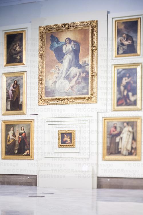Murillo's paintings in the room V (Sevillian Baroque), Museum of Fine Arts, Seville, Spain