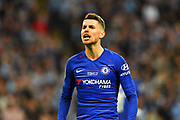 Jorginho (5) of Chelsea during the Carabao Cup Final match between Chelsea and Manchester City at Wembley Stadium, London, England on 24 February 2019.