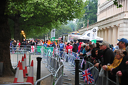 The Mall London , UK  29/04/2011. The Royal Wedding of HRH Prince William to Kate Middleton. 6am crowds await the big moment . Photo credit should read ALAN ROXBOROUGH/LNP. Please see special instructions. © under license to London News Pictures