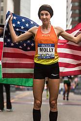 NYRR New York City Half Marathon road race: Molly Huddle, USA, Saucony