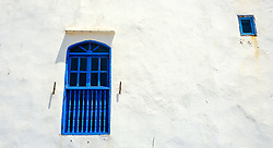 Blue shutters and white painted walls near the harbour in Essaouira, Morocco<br /> <br /> (c) Andrew Wilson | Edinburgh Elite media
