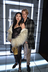 Charley Palmer Rothwell and guest at the official launch of The Perception at W London, 10 Wardour Street, London England. 7 November 2017.<br /> Photo by Dominic O'Neill/SilverHub 0203 174 1069 sales@silverhubmedia.com