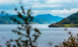 THEMENBILD - Blick auf den See und der Ruine des Urquhart Castle, Loch Ness, Drumnadrochit, Schottland, aufgenommen am 05.06.2015 // View of the lake and the ruins of Urquhart Castle, Loch Ness, Drumnadrochit, Scotland on 2015/06/05. EXPA Pictures © 2015, PhotoCredit: EXPA/ JFK