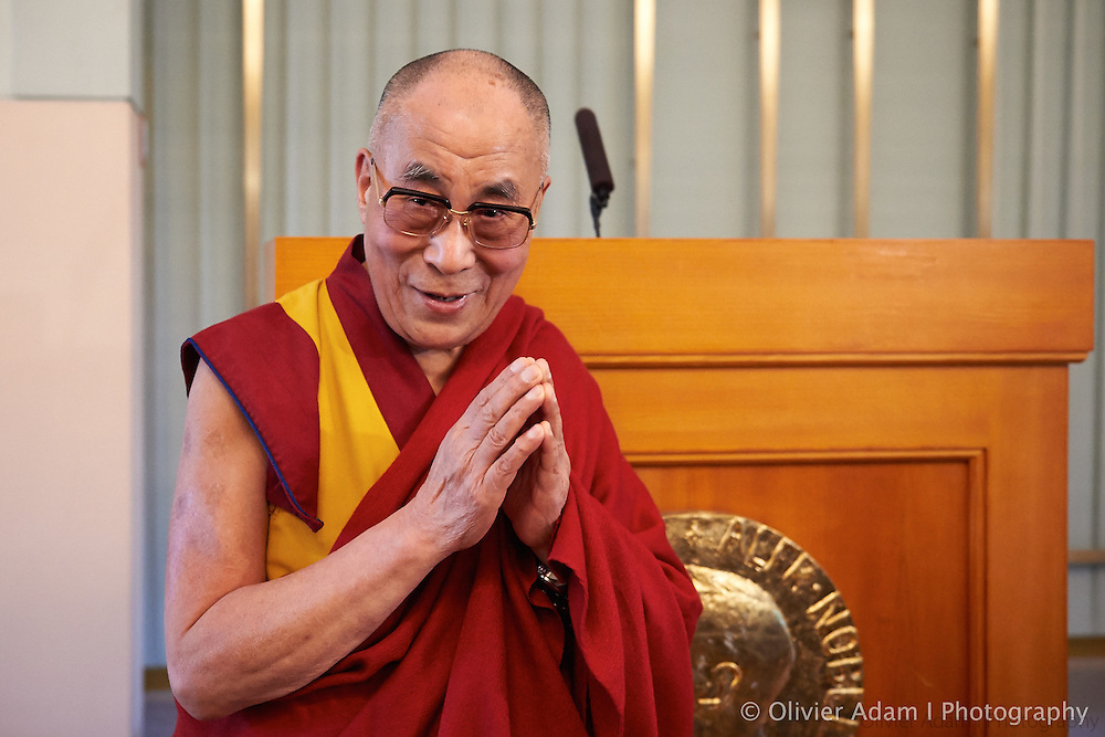 Commemoration picture for the 25th anniversary of His Holiness Nobel Peace Prize. Dalai Lama