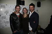 Luke Treadaway, Jodie Whittaker and Dominic Cooper, 9th British Independent Film awards Announce Nominations and Jury today at Soho House. Supported by the UK Film council and Mac cosmetics.  Old Compton st. London. 25 October 2006. -DO NOT ARCHIVE-© Copyright Photograph by Dafydd Jones 66 Stockwell Park Rd. London SW9 0DA Tel 020 7733 0108 www.dafjones.com