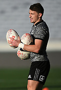 Beauden Barrett.<br /> All Blacks training session at Eden Park ahead of the upcoming test series against France. Auckland, New Zealand. Thursday 7 June 2018. © Copyright photo: Andrew Cornaga / www.Photosport.nz