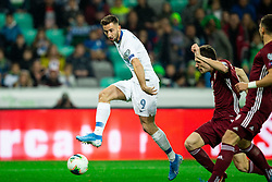 Andraz Sporar  of Slovenia during the 2020 UEFA European Championships group G qualifying match between Slovenia and Latvia at SRC Stozice on November 19, 2019 in Ljubljana, Slovenia. Photo by Vid Ponikvar / Sportida