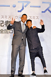 59594015  .Will Smith and Jaden Smith at the After Earth Press conference in Hotel Ritz Carlton Tokyo, Japan, May 2, 2013 Photo by: i-Images.UK ONLY