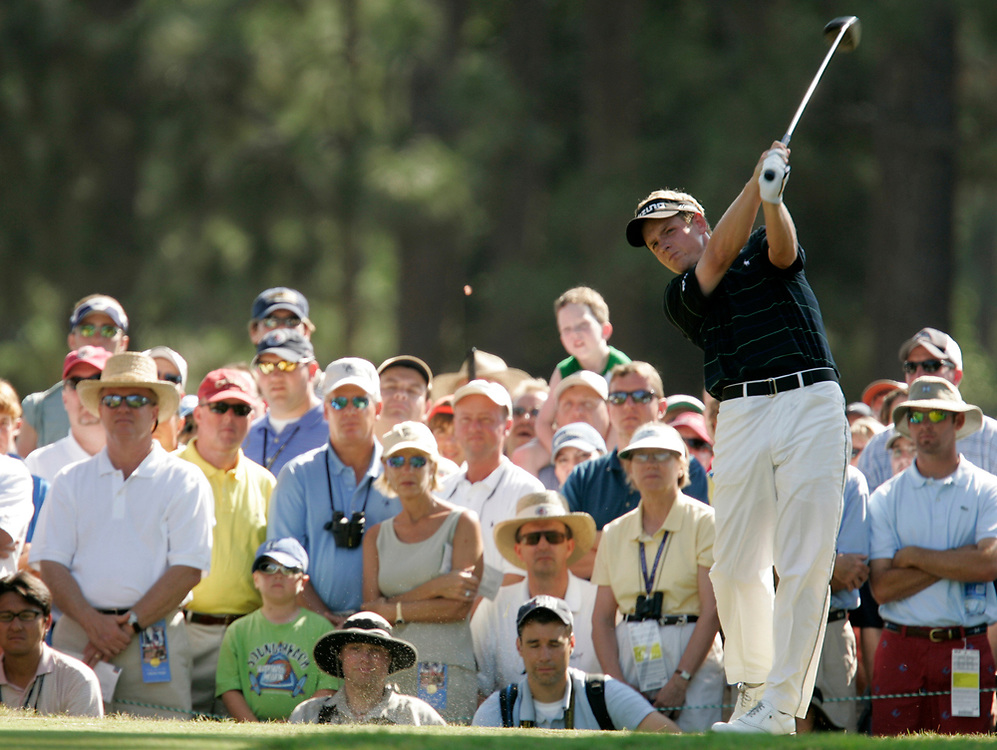 PINEHURST, NORTH CAROLINA - JUNE 16, 2005<br /> Luke DONALD during the 1st Round of the 2005 U.S. Open Championship, held at Pinehurst No.2 in the Village of Pinehurst, North Carolina.