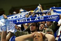Fotball , 12. september 2007 , EM-kvalifisering , Norge - Hellas 2-2<br /> Norway - Greece 2-2<br /> illustrasjon , fan , fans Hellas , supporter , supportere