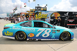September 29, 2018 - Charlotte, NC, U.S. - CHARLOTTE, NC - SEPTEMBER 29: #78: Martin Truex Jr., Furniture Row Racing, Toyota Camry Auto-Owners Insurance leaving the garages during the Monster Energy NASCAR Cup Series Playoff Race Bank of America ROVAL 400 on September 29, 2018, at Charlotte Motor Speedway in Concord, NC. (Photo by Jaylynn Nash/Icon Sportswire) (Credit Image: © Jaylynn Nash/Icon SMI via ZUMA Press)