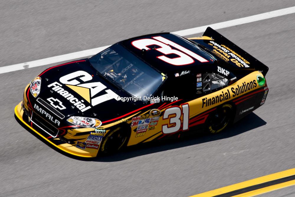 April 17, 2011; Talladega, AL, USA; NASCAR Sprint Cup Series driver Jeff Burton (31) during the Aarons 499 at Talladega Superspeedway.   Mandatory Credit: Derick E. Hingle