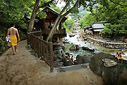 Around the hot springs of the Takaragawa onsen (hot spring) in Gunma prefecture north of Tokyo - JAPAN 8 July 2006