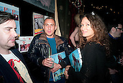 RICHARD NICOLL; LULU KENNEDY; , Ponystep - issue 3 launch party, George and Dragon, 2-4 Hackney Road, London, E2.  April 5 2012.
