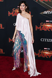 World Premiere Of Marvel Studios 'Captain Marvel' held at the El Capitan Theatre on March 4, 2019 in Hollywood, Los Angeles, California, United States. 04 Mar 2019 Pictured: Gemma Chan. Photo credit: Xavier Collin/Image Press Agency / MEGA TheMegaAgency.com +1 888 505 6342
