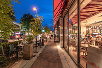 Streetcape of Bethesda MD at twilight by Jeffrey Sauers of Commercial Photographics