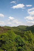Blick auf Siebengebirge vom Drachenfels, Königswinter, Unteres Mittelrheintal, Nordrhein-Westfalen, Deutschland   view on Siebengebirge from Drachenfels, Königswinter, Lower Middle Rhine Valley, North Rhine-Westphalia, Germany