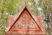 19 MARCH 2006 - SIEM REAP, SIEM REAP, CAMBODIA: The roof of a contemporary temple in the Angkor Wat complex near Siem Reap, Cambodia. More than one million tourists are expected to visit Angkor in 2006 and it is the largest tourist attraction in Cambodia. It is also still one of the most important centers of Buddhism in Cambodia. PHOTO BY JACK KURTZ