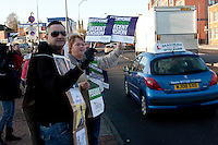 Unison members on the TUC Day of Action 30th November, Edmunds Road NHS Crisis Centre Sheffield ..© Martin Jenkinson, tel 0114 258 6808 mobile 07831 189363 email martin@pressphotos.co.uk. Copyright Designs & Patents Act 1988, moral rights asserted credit required. No part of this photo to be stored, reproduced, manipulated or transmitted to third parties by any means without prior written permission