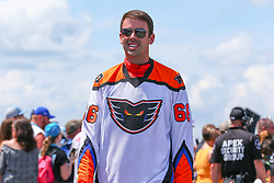 July 29, 2018 - Long Pond, PA, U.S. - LONG POND, PA - JULY 28:   Monster Energy NASCAR Cup Series driver Timmy Hill Lehigh Valley Phantoms Toyota (66) during driver introductions prior to the Monster Energy NASCAR Cup Series - 45th Annual Gander Outdoors 400 on July 29, 2018 at Pocono Raceway in Long Pond, PA. (Photo by Rich Graessle/Icon Sportswire) (Credit Image: © Rich Graessle/Icon SMI via ZUMA Press)