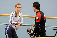 MAR 12 2014 Laura Trott during the opening of the Lee Valley Velopark