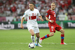 16.06.2012, Staedtisches Stadion, Breslau, POL, UEFA EURO 2012, Tschechien vs Polen, Gruppe A, im Bild DARIUSZ DUDKA ( L) DANIEL KOLAR ( P_ // during the UEFA Euro 2012 Group A Match between Czech Republic and Poland at the Municipal Stadium, Wroclaw, Poland on 2012/06/16. EXPA Pictures © 2012, PhotoCredit: EXPA/ Newspix/ Katarzyna Plewczynska..***** ATTENTION - for AUT, SLO, CRO, SRB, SUI and SWE only *****