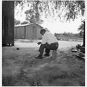 Woodland, Calif.--Tenant farmer of Japanese ancestry who has just completed settlement of their affairs and everything is packed ready for evacuation on the following morning to an assembly center. -- Photographer: Lange, Dorothea -- Woodland, California. 5/20/42<br /> Identifier:<br /> Volume 61<br /> Identifier:<br /> Section G<br /> Identifier:<br /> WRA no. C-439<br /> Collection:<br /> War Relocation Authority Photographs of Japanese-American Evacuation and Resettlement Series 14: Preevacuation<br /> Contributing Institution:<br /> The Bancroft Library. University of California, Berkeley.