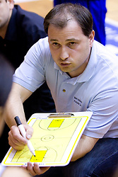 Coach of Kranjska Gora Goran Jovanovic at finals match of Slovenian 1st Women league between KK Hit Kranjska Gora and ZKK Merkur Celje, on May 14, 2009, in Arena Vitranc, Kranjska Gora, Slovenia. Merkur Celje won the third time and became Slovenian National Champion. (Photo by Vid Ponikvar / Sportida)