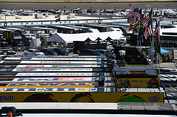 September 14, 2018 - Las Vegas, NV, U.S. - LAS VEGAS, NV - SEPTEMBER 14: A general view of the car haulers as they fly flags during practice for the South Point 400 Monster Energy NASCAR Cup Series Playoff Race on September 14, 2018 at Las Vegas Motor Speedway in Las Vegas, NV. (Photo by Chris Williams/Icon Sportswire) during practice for the DC Solar 300 NASCAR Xfinity Series Playoff Race on September 14, 2018, at Las Vegas Motor Speedway in Las Vegas, NV. (Photo by David Griffin/Icon Sportswire) (Credit Image: © David Griffin/Icon SMI via ZUMA Press)