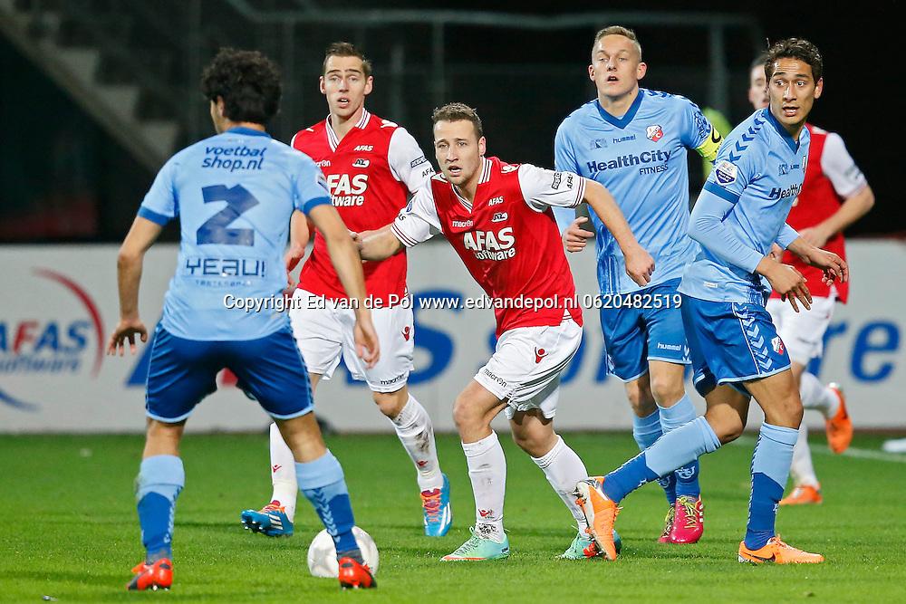 ALKMAAR - 15-02-2014, voetbal, eredivisie, AZ - FC Utrecht, AFAS Stadion, 1-1,