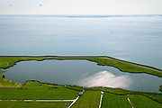 Nederland, Noord-Holland, Amsterdam, 05-08-2014; Waterland , Barnegat met Waterlandse Zeedijk (Uitdammerdijk) en IJsselmeer.<br /> Waterland with (former) seawalll, near Amsterdam. IJssel lake.<br /> luchtfoto (toeslag op standard tarieven);<br /> aerial photo (additional fee required);<br /> copyright foto/photo Siebe Swart