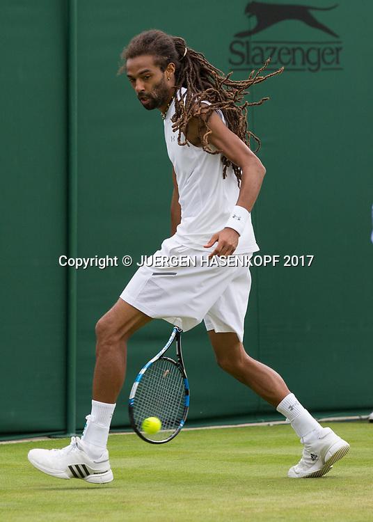DUSTIN BROWN (GER) spielt einen tweener,<br /> <br /> Tennis - Wimbledon 2017 - Grand Slam ITF / ATP / WTA -  AELTC - London -  - Great Britain  - 3 July 2017.