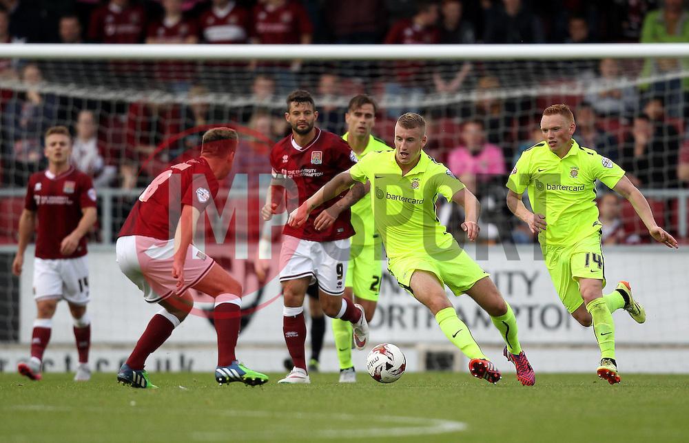 Scott Harrison of Hartlepool United goes forward with the ball - Mandatory byline: Robbie Stephenson/JMP - 07966 386802 - 10/10/2015 - FOOTBALL - Sixfields Stadium - Northampton, England - Northampton Town v Hartlepool - Sky Bet League Two