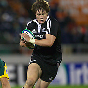 Sean Polwart, New Zealand, in action during the Australia V New Zealand Final match at the IRB Junior World Championships in Argentina. New Zealand won the match 62-17 at Estadio El Coloso del Parque, Rosario, Argentina,. 21st June 2010. Photo Tim Clayton...