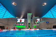 General view of Diving Pool during practice session ahead of  the FINA/CNSG Diving World Series 2019 at London Aquatics Centre, London, United Kingdom on 19 May 2019.