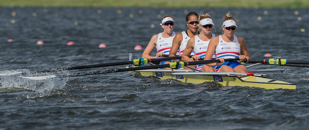 Rotterdam. Netherlands. GBR.W4- Bow Fiona GAMMOND, Donna ETIEBET, Holly NIXON and Holly NORTON, WRCH2016} at the Willem-Alexander Baan.   Monday  22/08/2016 <br /> <br /> [Mandatory Credit; Peter SPURRIER/Intersport Images]