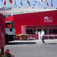 Venice August 29th Final preparation at Palazzo del cinema ahead of the opening of the 68 Venice Film Festival...HOW TO LICENCE THIS PICTURE: please contact us via e-mail at sales@xianpix.com or call our offices in Milan at (+39) 02 400 47313 or London   +44 (0)207 1939846 for prices and terms of copyright. First Use Only ,Editorial Use Only, All repros payable, No Archiving.© MARCO SECCHI