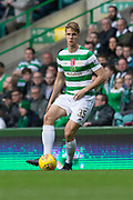 14th October 2017, Celtic Park, Glasgow, Scotland; Scottish Premiership football, Celtic versus Dundee; Celtic's Kristoffer Ajer